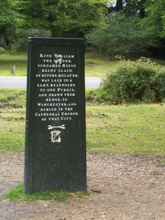 New Forest Rufus Stone other side