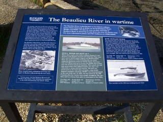 New Forest Beaulieu River WW2 Information Board Bucklers Hard