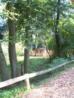 New Forest lodge at Sandy Balls Holiday Centr