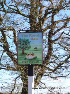 New Forest Royal Oak Fritham Sign