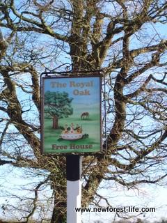 New Forest Royal Oak Fritham Sign