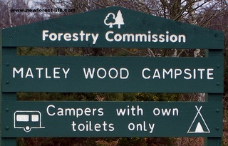 New Forest Matley Wood Entrance Board