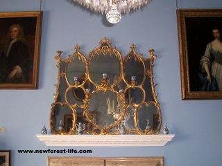 New Forest-Breamore House, The Chinese Chippendale Mirror
