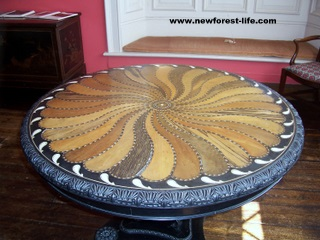 New Forest Breamore House Inlaid Table