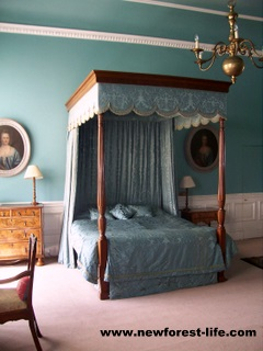 New Forest Breamore House Blue Bedroom