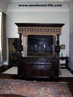 New Forest Breamore House Tudor Bedroom