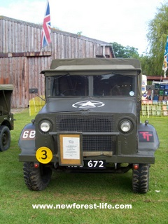 WW2 1941 Bedford MW-Shown at the Breamore Show in the colours of the 50th Division Hampshire Regiment