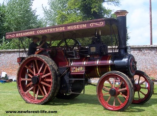 New Forest Breamore House Traction Engine