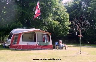 New Forest Longbeech caravan park