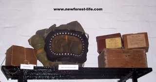 New Forest WW2 baby gas mask and stores