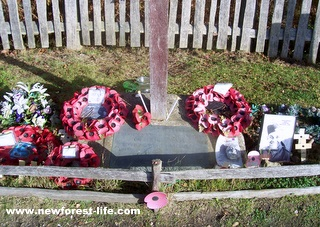 New Forest Canadian War Memorial wreaths