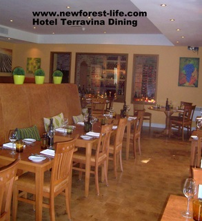 New Forest Hotel TerraVina Dining Area