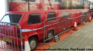 New Forest Beaulieu Top Gears Stretch Limo Fiat Panda