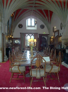 New Forest Beaulieu Palace Dining Room