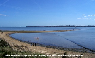 New Forest Lepe Beach