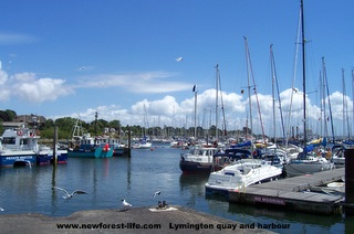 Lymington Quay and harbour