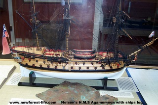HMS Agamemnon Battle of Trafalgar model at Buckler's Hard Maritime Museum