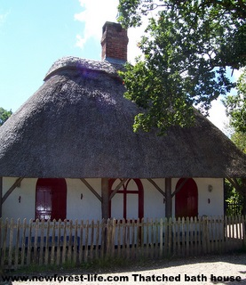 New Forest Bucklers Hard Thatched Bath House