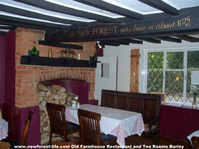 New Forest Tea Room Old Farmhouse Burley