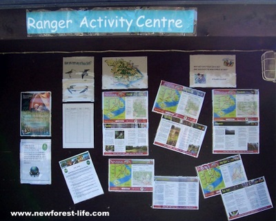 New Forest Holmsley Caravan Park Ranger Activity Board