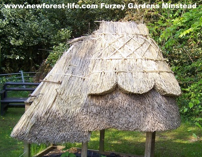 New Forest Furzey Gardens Thatching example