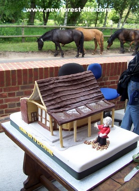 New Forest Woodgreen shop - a cake made for the grand opening