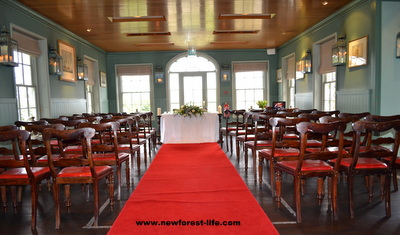 New Forest weddings Masters Builders Hotel ceremony area