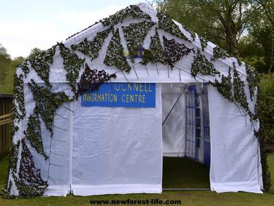 New Forest Ocknell Information Centre Tent