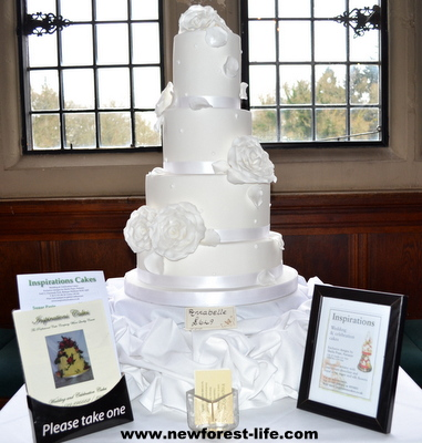 New Forest wedding cake by Inspirations cakes