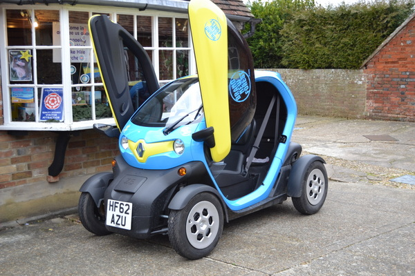 New Forest National Park Brand New Forest Twizy car