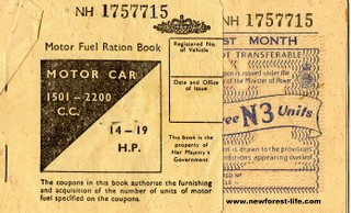 New Forest WW2 Ration Fuel Coupon
