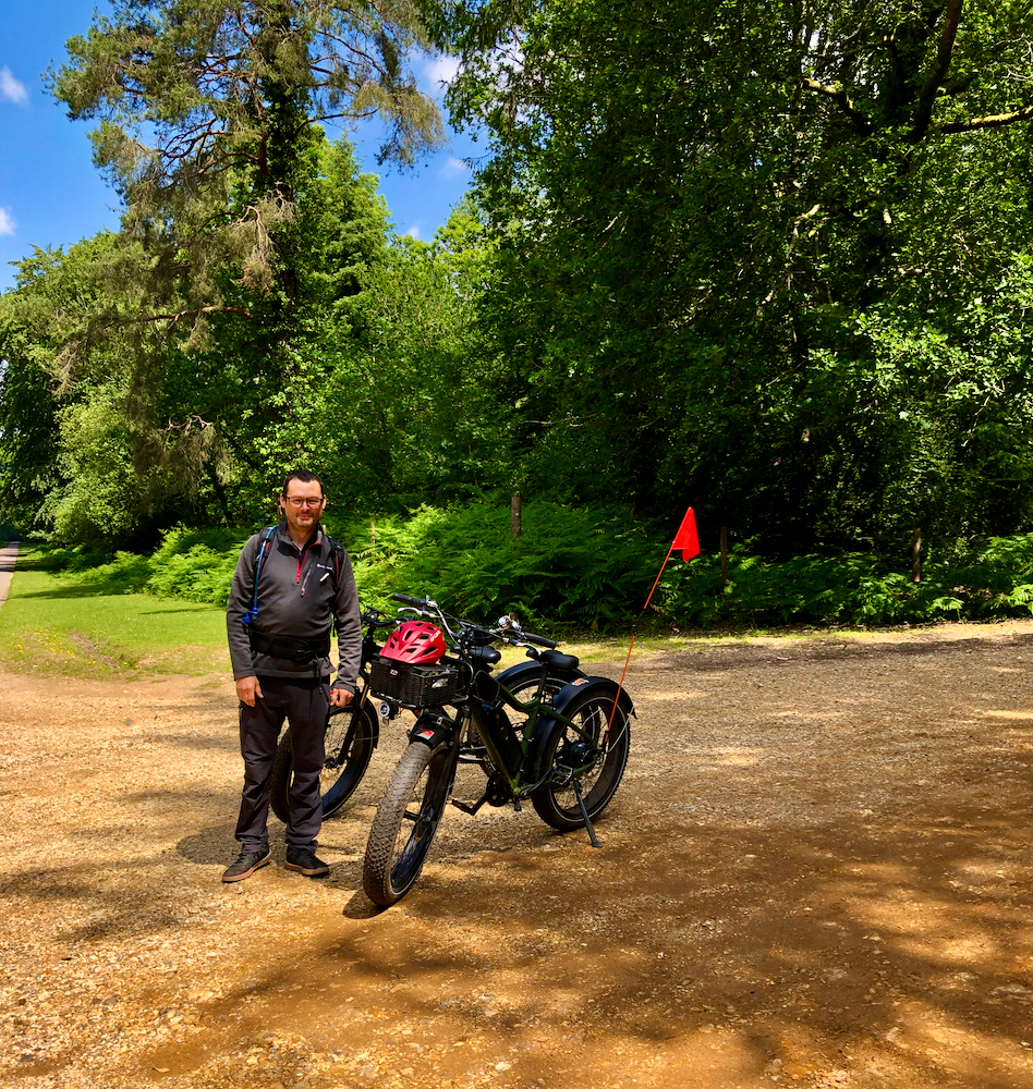 Electric bike rides with Likie Bikie are great fun. You'll thoroughly enjoy discovering a secret New Forest world with David!
