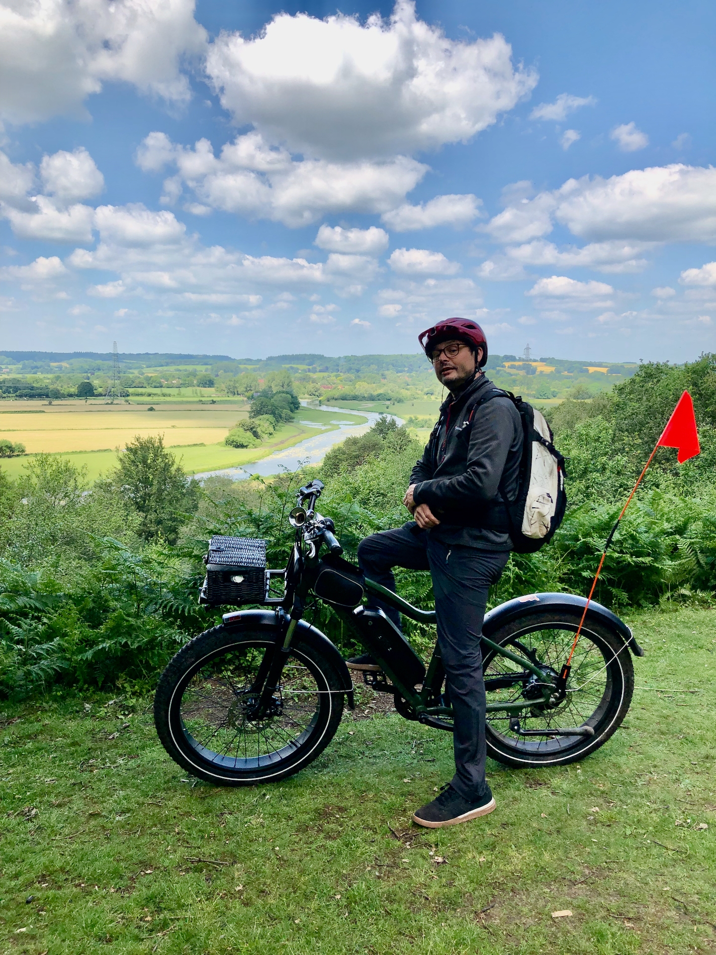 Electric bike ride views with Likie Bikie. Just one of the wonderful New Forest sights you'll see on the escorted 2 hour Explorer Ride