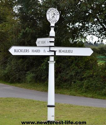 New Forest road signs 21century editions
