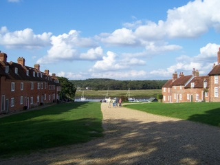 Buckler's Hard village looking towards the river. Now there's a new cycle route from Beaulieu village.