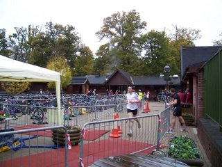 New Forest finishing line for the Duathlon