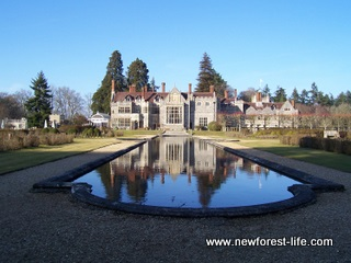 New Forest Rhinefield House Hotel At Rear