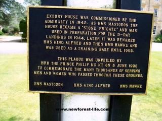 New Forest Exbury Gardens Plaque