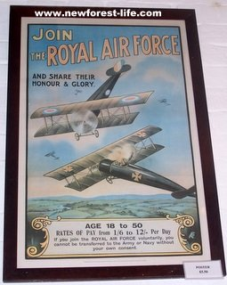 New Forest WW2 RAF Poster asking for recruites