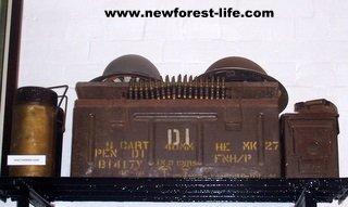 New Forest WW2 equipment at Hurst Castle.