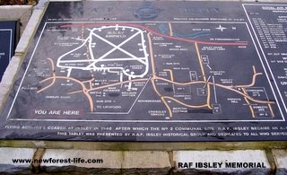 New Forest R.A.F. Ibsley WW2 Airfield Plan