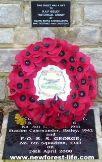 New Forest Ibsley Poppy Memorial