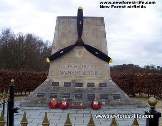 New Forest WW2 Airfield Memorial near Holmsley