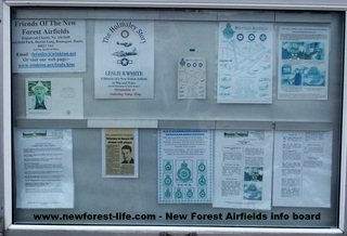 New  Forest Airfields info board