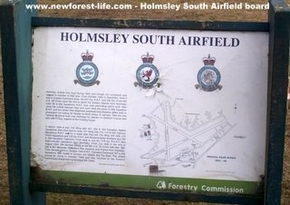 New Forest South Holmsley Airfield Notice Board