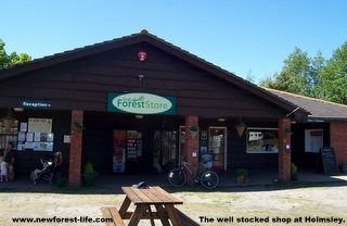 New Forest Holmsley Campsite shop