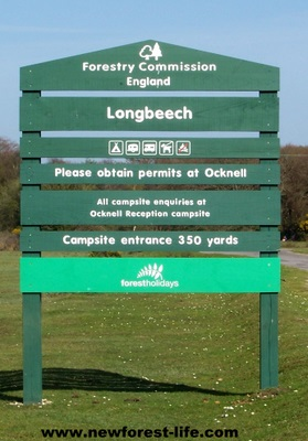 New Forest Longbeech entrance board