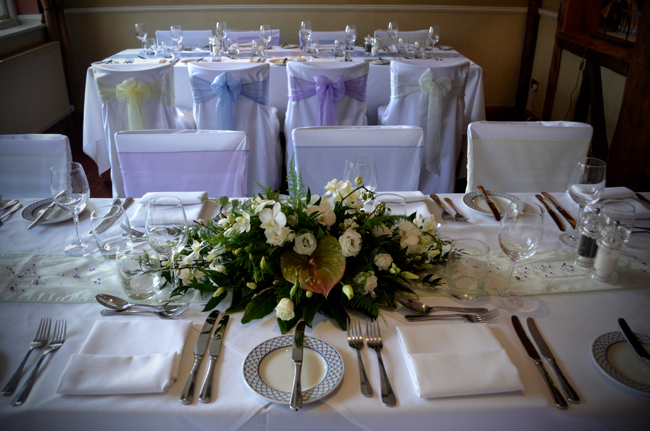 The Bell Inn New Forest wedding table