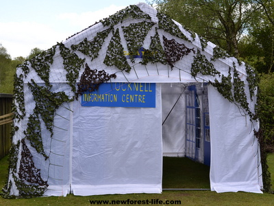 New Forest Ocknell Information Centre Tent