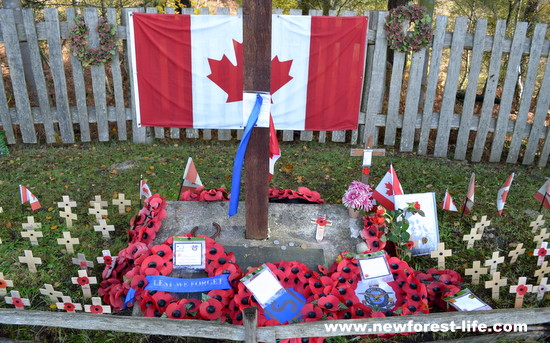 New Forest memorial at Canada Cross